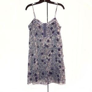 AE Purple Floral Ruffled Dress Sz 14